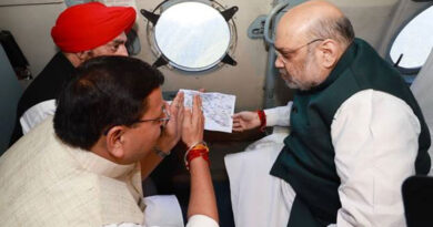 Home Minister Amit Shah conducted an aerial survey of the situation of rains, floods and landslides in Uttarakhand